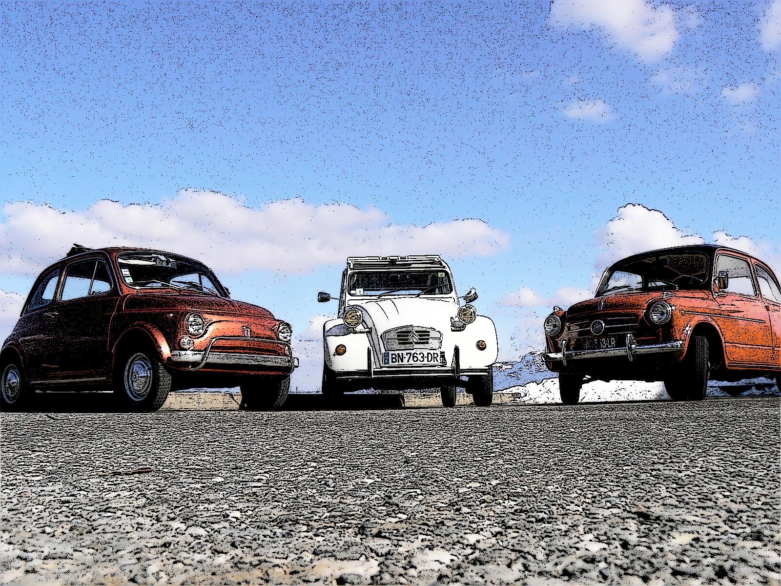 2cv, Deuche, Fiat 500, Fiat 600, Annecy