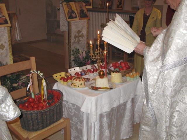 Pâques: bénédiction des œufs