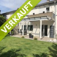 Gartenansicht einer verkauften Doppelhaushälfte