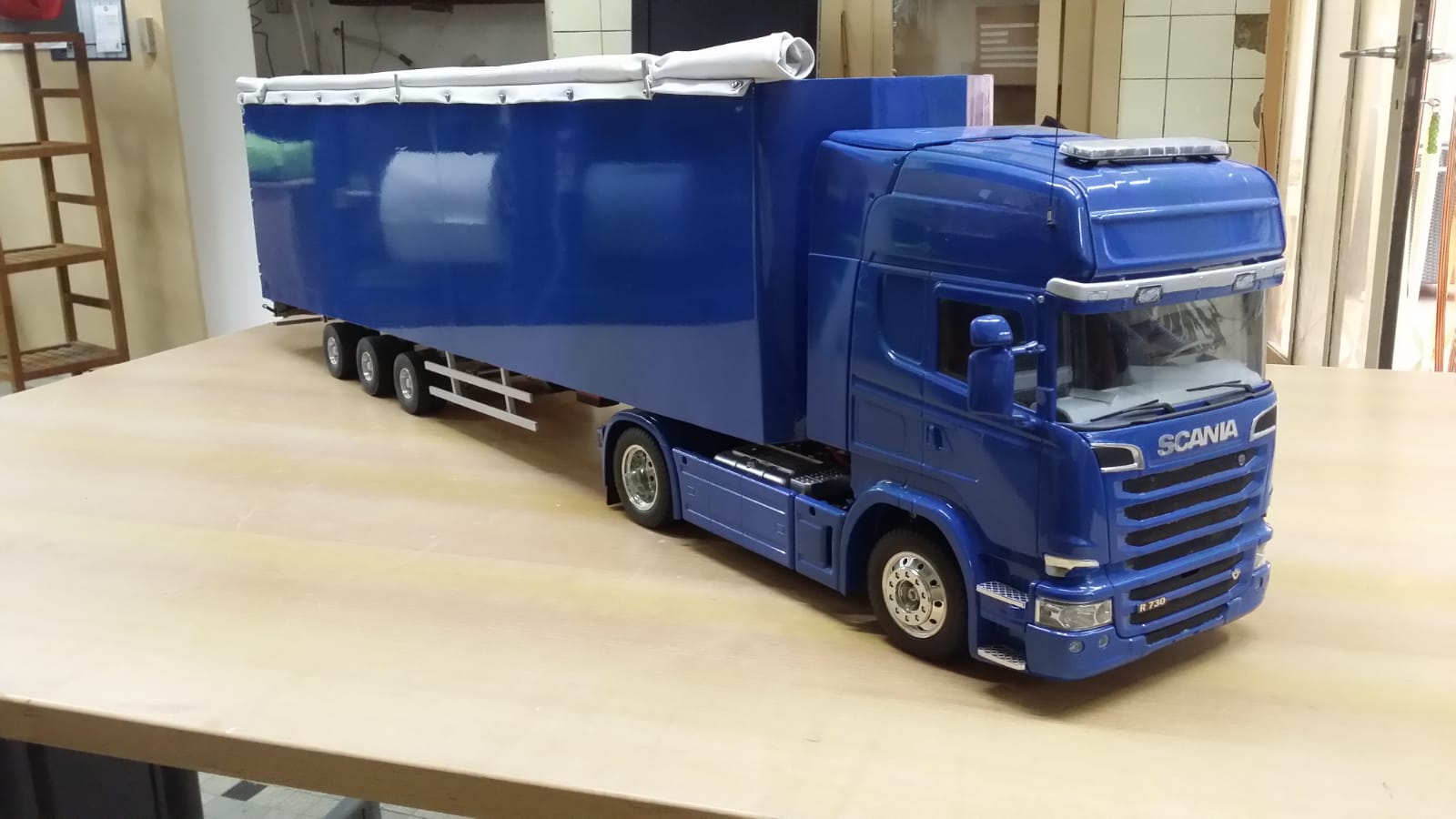 Scania Streamline R730 (verkerk front en walking floor trailer )