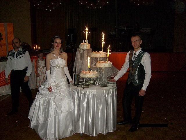 Die Hochzeitstorte.
