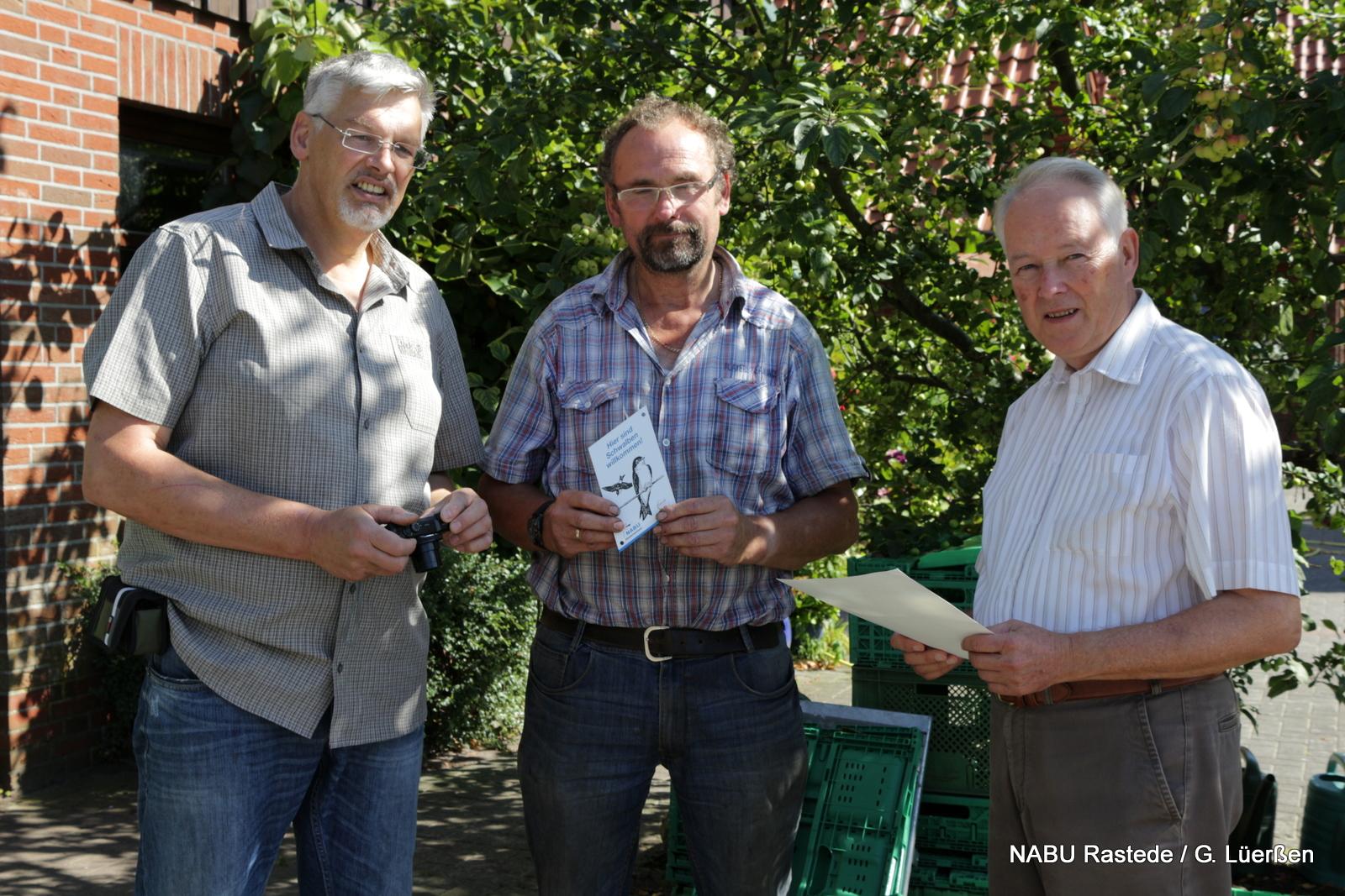 19.08.2016: Übergabe der Urkunde an Herrn Steenken