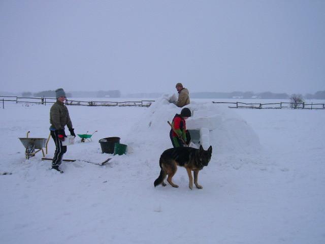 Iglubau im Winter 2009/ 2010