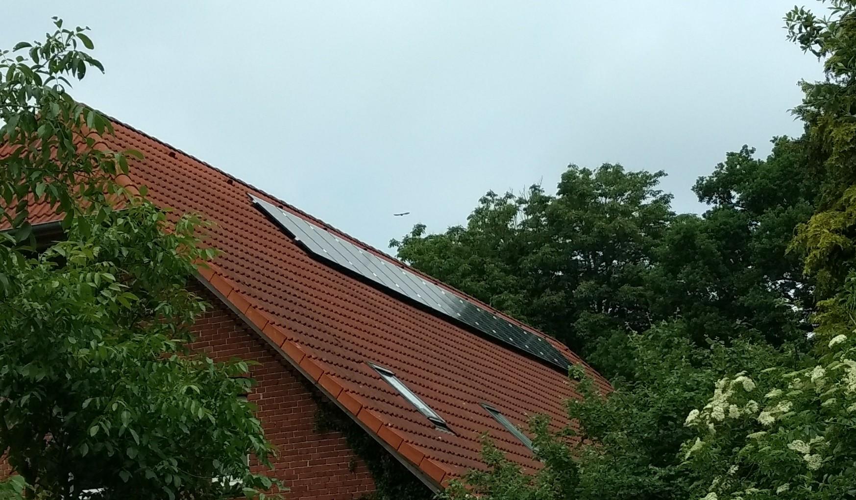 Die Photovoltaik- Anlage ist fertig!