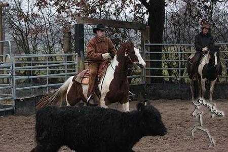 Tacolena bei der Rinderarbeit 2007 und...