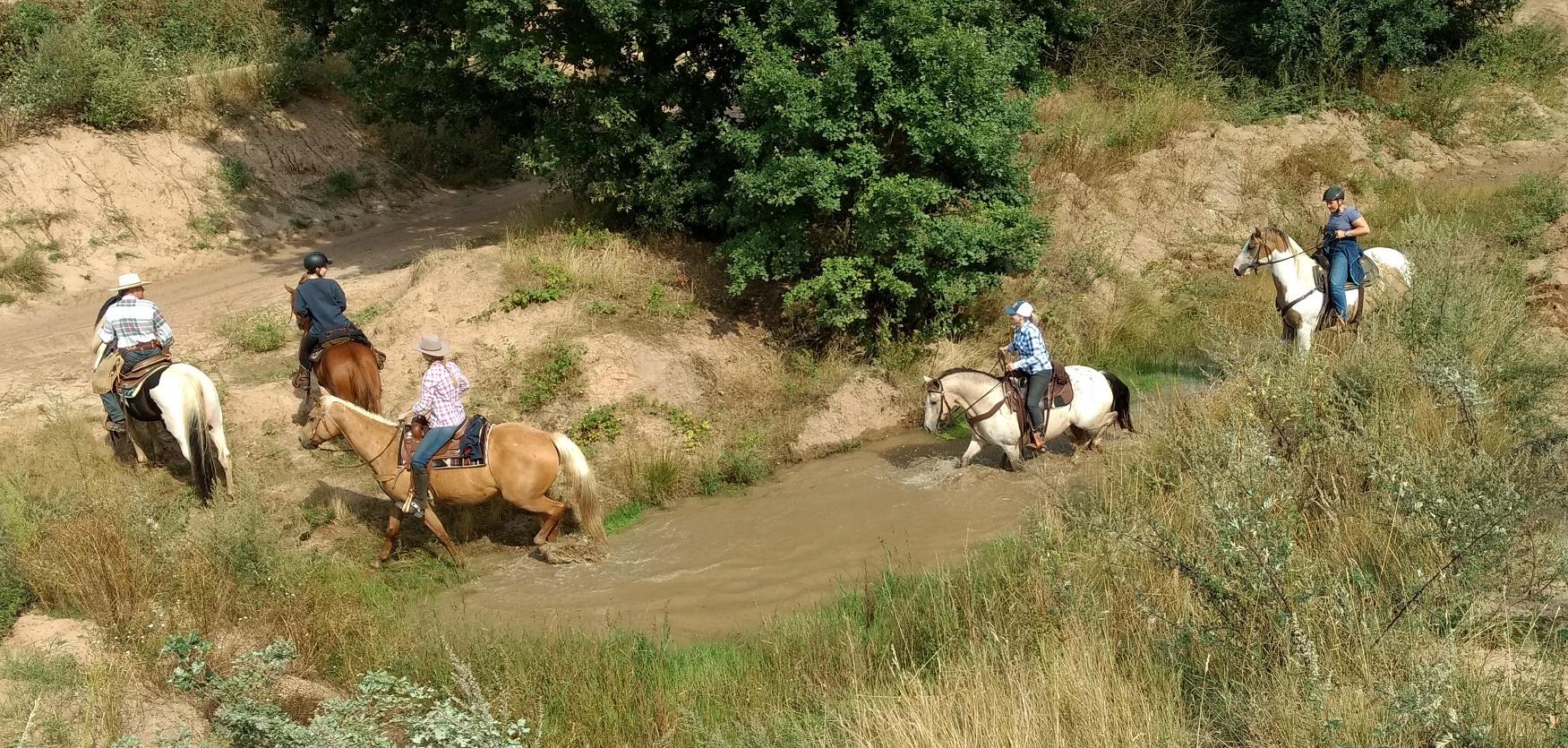In diesem Sommer gab es sogar genug Wasser, um daran/ darin zu üben ;-)
