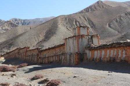 Gebetswand in Mustang