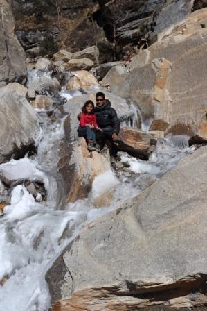 Überfrorener Wasserfall Upper Mustang
