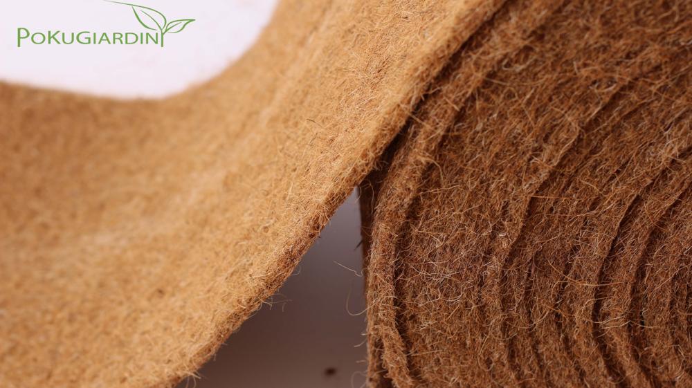 Rotoli in fibra di cocco, protezione termica per giardino e orto
