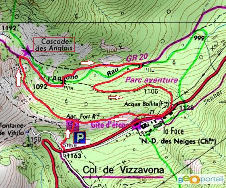 carte randonnée des cascades des anglais
