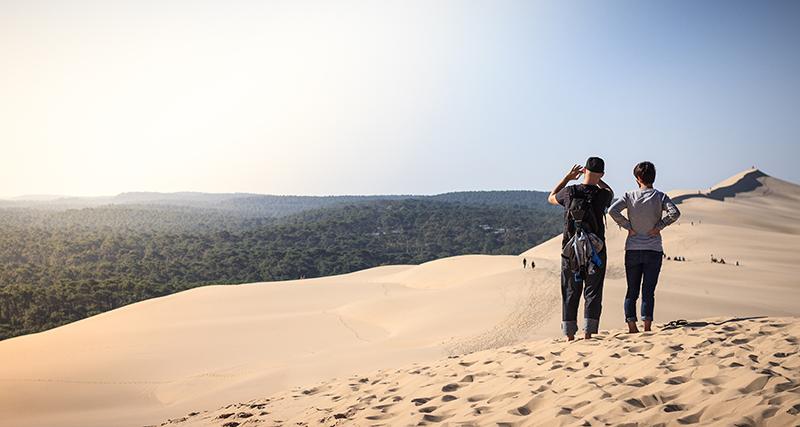 Au bord de l'Atlantique, la fantastique Dune du Pyla - Crédit : David Remazeilles (Gironde Tourisme)