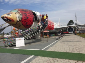 The stranded Turkish aircraft was converted into an aviation museum near the international airport in Kathmandu.