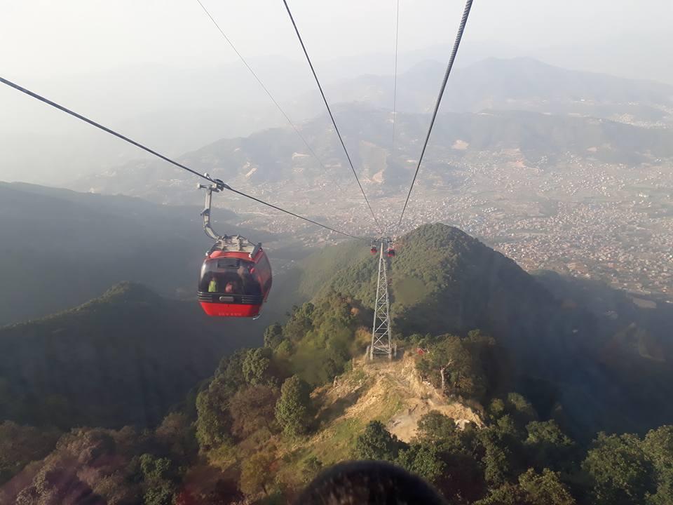 Gondel auf den Chandragiri Hill