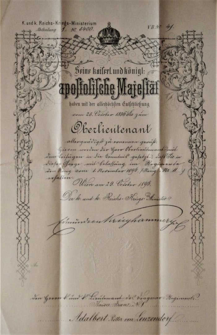 Beförderung Oberleutnant