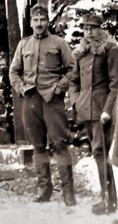 Mit Max Attems, Frühjahr 1916, Dnjestr.