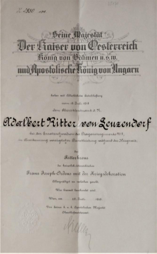 Ritterkreuz 1918