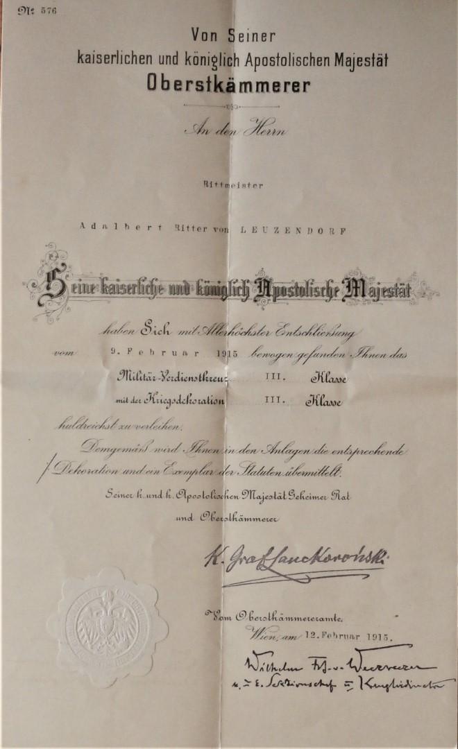 Militärverdienstkreuz 1915