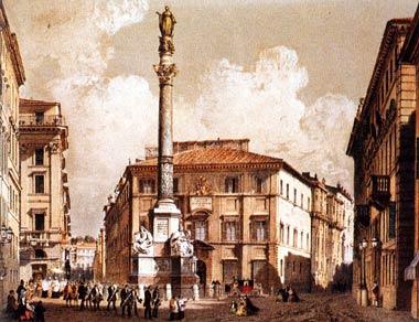Columna levantada en Roma (Plaza España) en honor a la Inmaculada Concepción