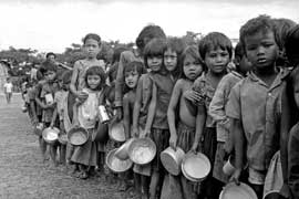 En menos de cinco años, entre un cuarto y un tercio de los habitantes de ese país sin familia murió