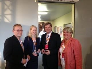 Lasse Weritz, Janina Tiedemann (Landesvorsitzende der Landjugend Niedersachsens), Enak Ferlemann, Gudrun Pieper MdL