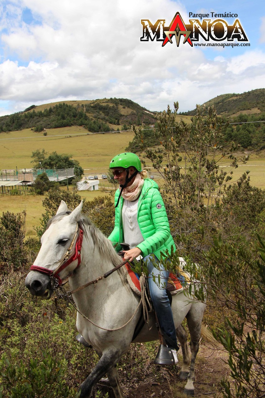Tour à cheval en plein nature