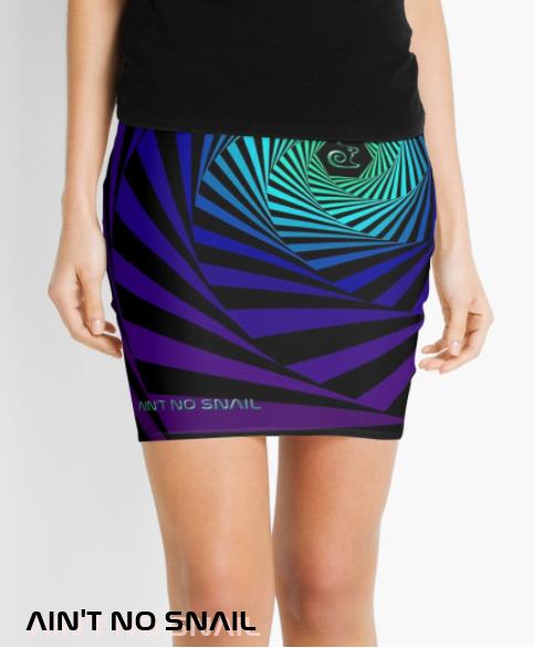 Ain't no snail Redbubble psychedelic Skirt, Logo illusion psytrance