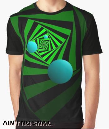Ain't no snail Redbubble T-Shirt, digitalprint psychedelic psytrance Festival clothing