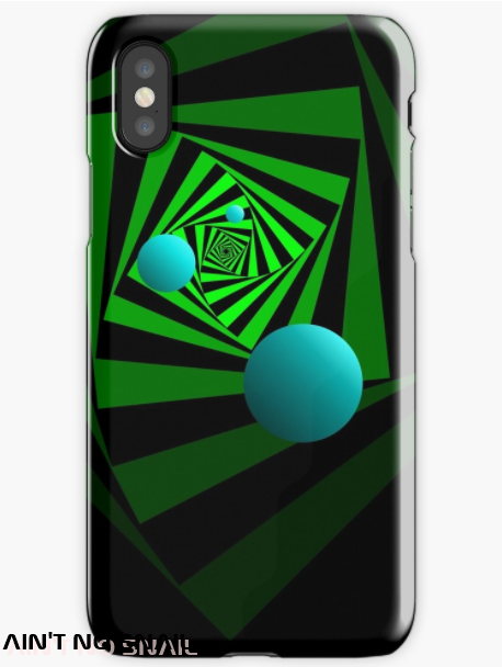 Ain't no snail Redbubble I Phone skin, handyhülle psychedelisch, Illusion op art
