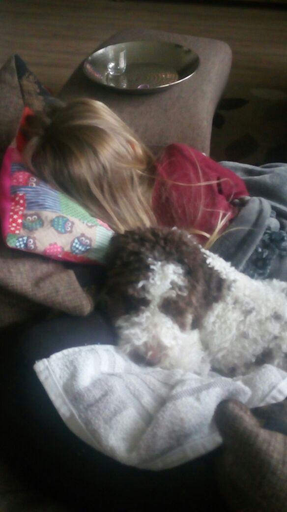 Tröstet Mia, wenn sie krank ist