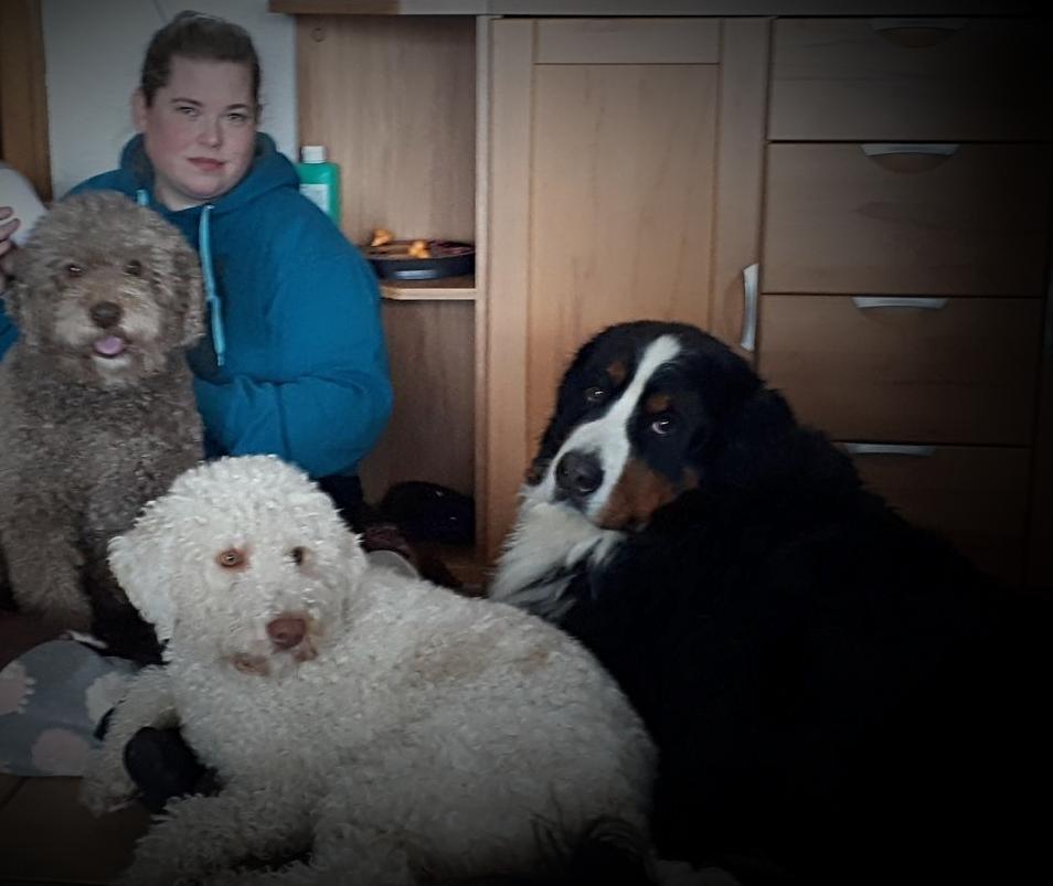 Alessio mit seinen Kumpels Tiago und Sammy