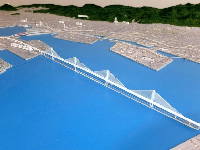 部 西 伸 道路 大阪 湾岸 大阪湾岸西伸部海上長大橋は世界最大規模の可能性。海上長大橋の橋梁形式の比較案は計4案が検討中