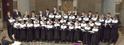 Der Wiesbadener Knabenchor im Festgottesdienst in der Ringkirche
