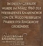 Gedenktafel am Gemeindehaus der Ringkirche