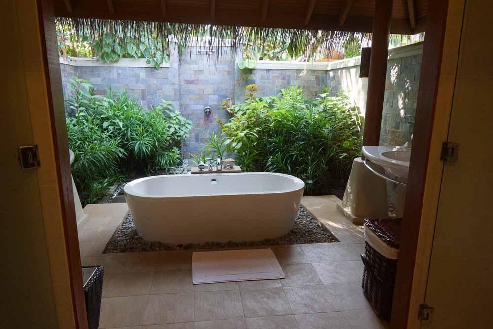 Unser Badezimmer - open air