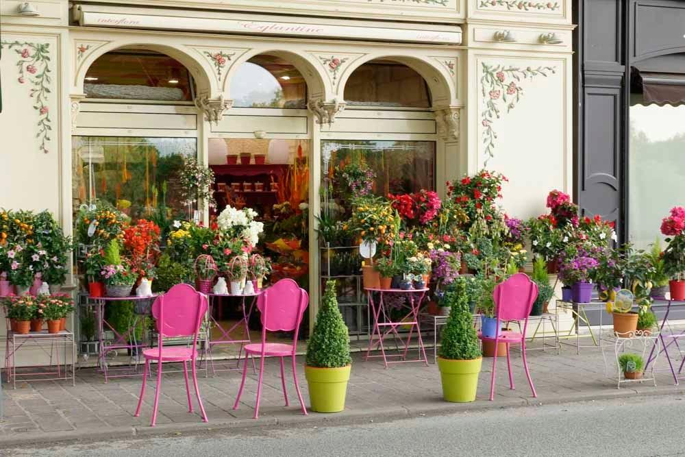 Blumengeschäft in Chinon
