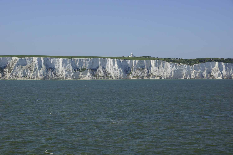 White Cliffs von weitem....