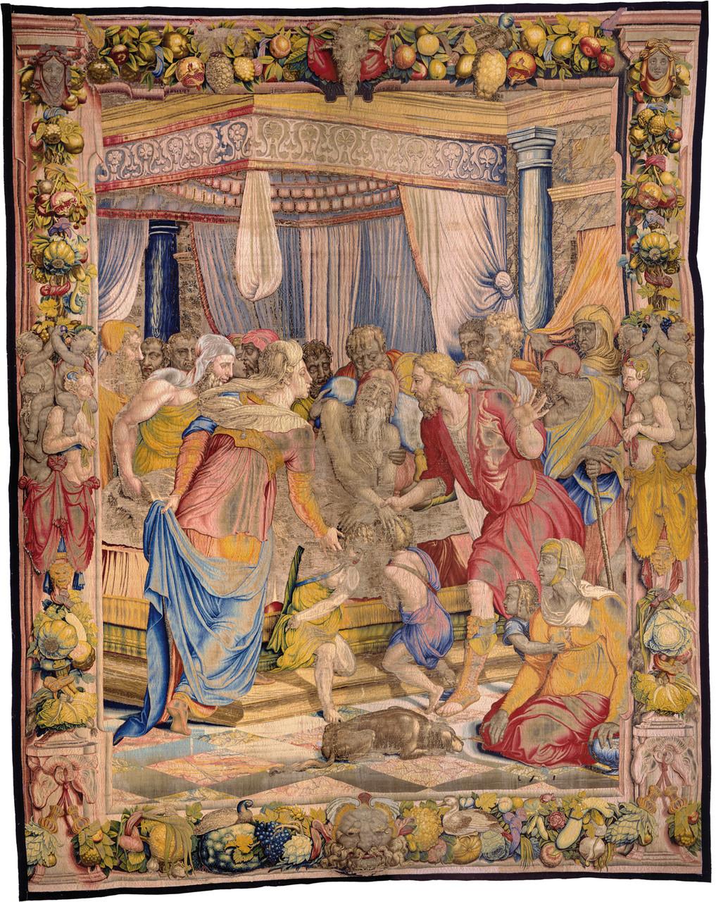 Giacobbe benedice i figli di Giuseppe, 1550-1553 disegno e cartone di Agnolo Bronzino atelier di Nicolas Karcher Firenze, Soprintendenza  Speciale PSAE e per il Polo Museale