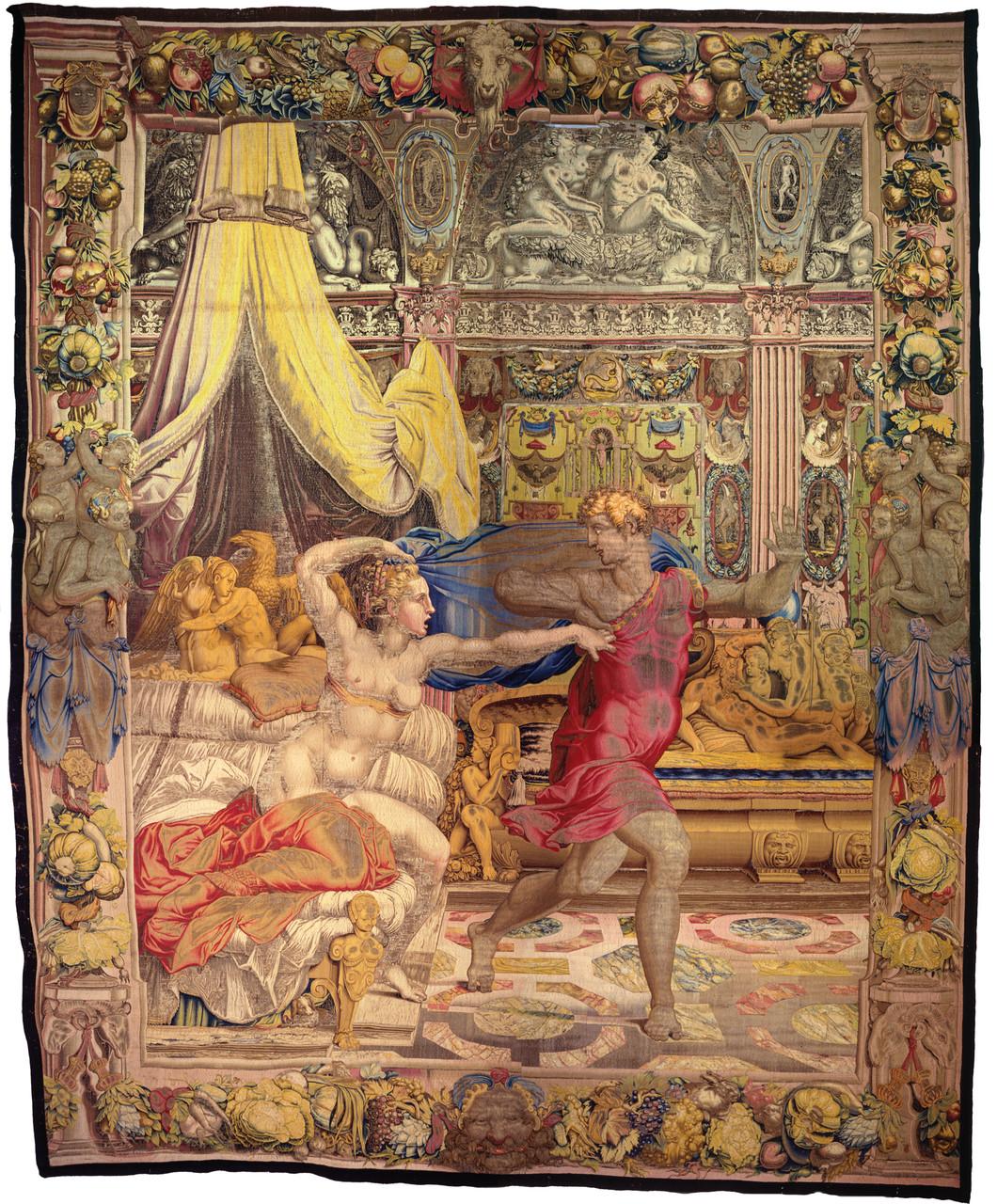 Giuseppe fugge dalla moglie di Putifarre, 1549 disegno e cartone di Agnolo Bronzino atelier di Nicolas Karcher Firenze, Soprintendenza  Speciale PSAE e per il Polo Museale