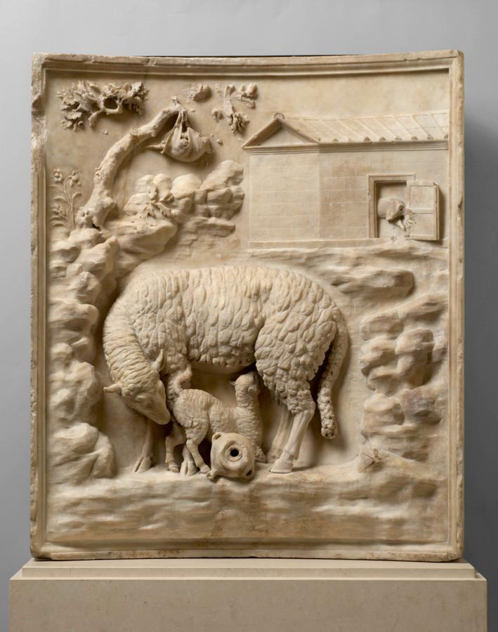 Rilievo Grimani: pecora che allatta i suoi cuccioli Marmo, tarda età augustea, prima metà I a.C. Vienna, Kunsthistorisches Museum