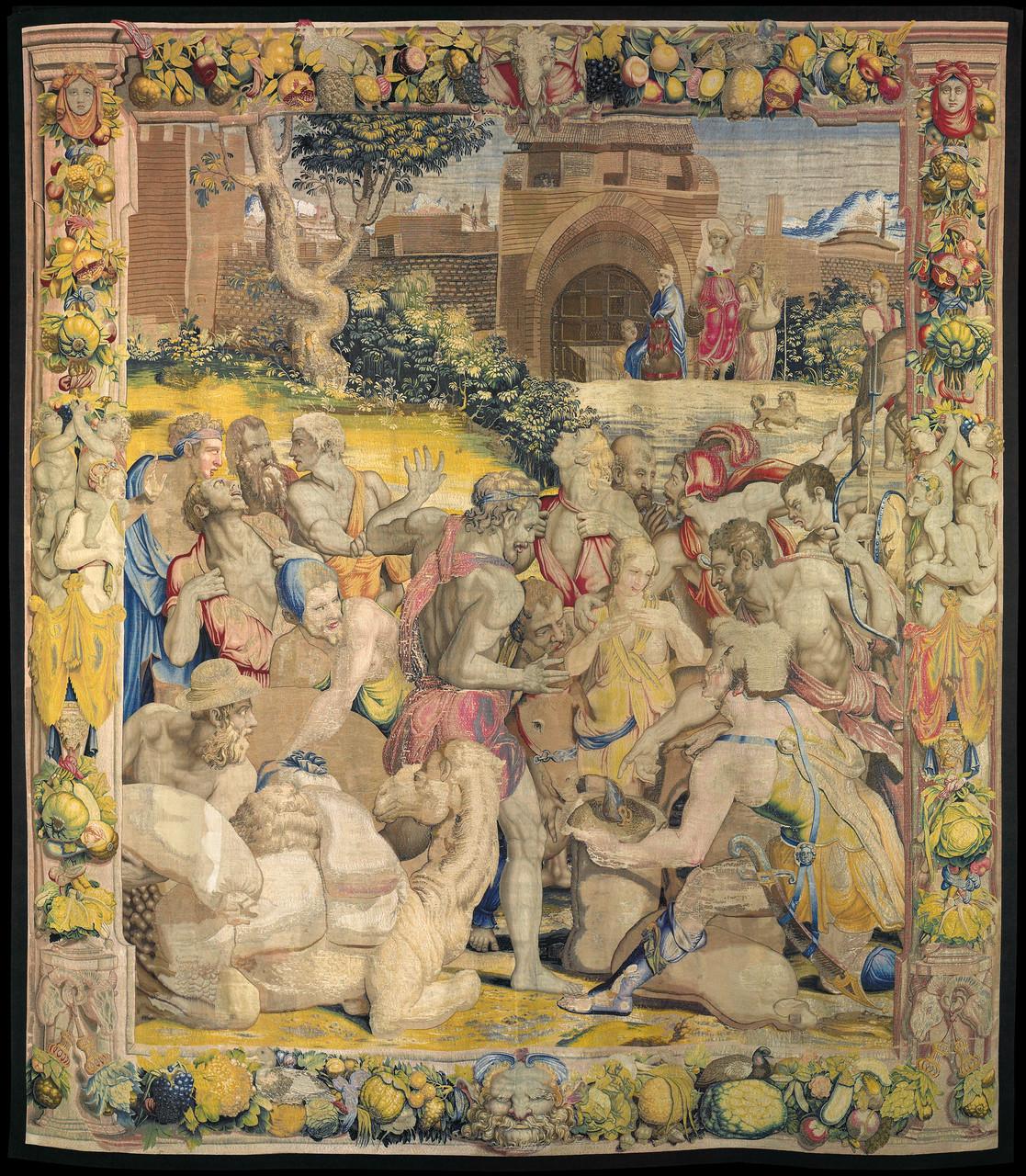 La coppa di Giuseppe ritrovata nel sacco di Beniamino, 1550-1553 disegno e cartone di Agnolo Bronzino atelier di Nicolas Karcher Roma, Presidenza della Repubblica