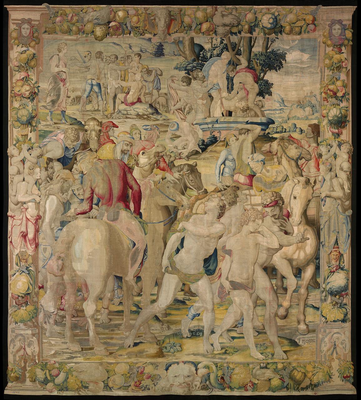 Vendita di Giuseppe, 1549 disegno e cartone di Agnolo Bronzino atelier di Jan Rost Roma, Presidenza della Repubblica