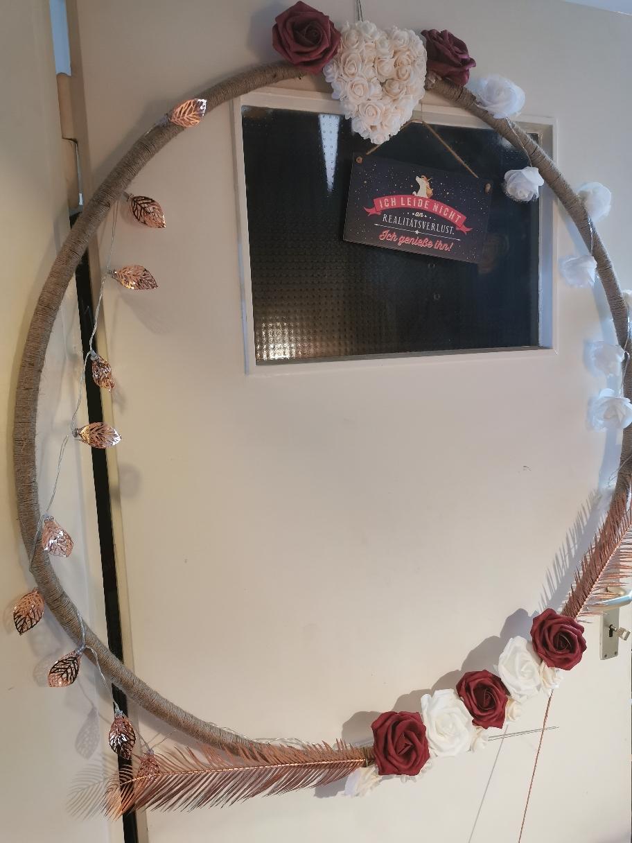 Fotorahmen aus einem Hula Hoop