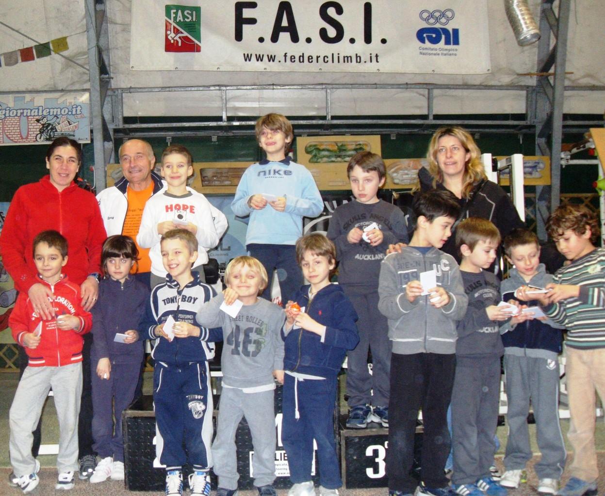 Premiazione Gara velocità feb 2011