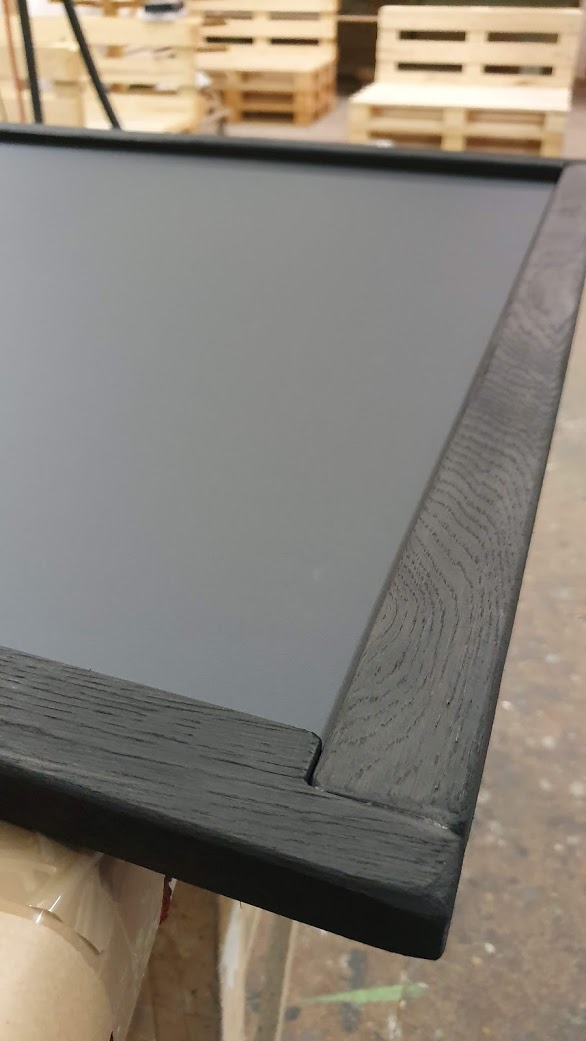 Magnettafel - Eiche schwarzer Rahmen (gebeizt)