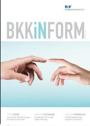 """Cover der aktuellen BKKiNForm mit Interview und Leseprobe zu """"Die alte Freundin Dunkelheit""""."""