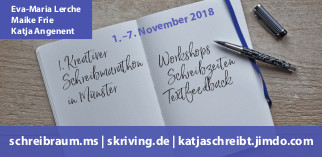 Flyer zum ersten Schreibmarathon in Münster