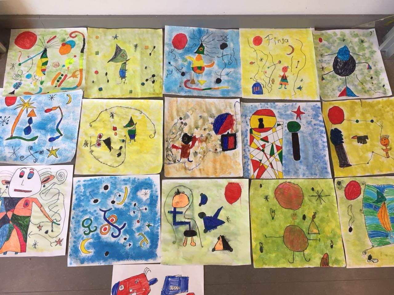 Bildmotive im Stil Mirós für unsere Kissenhüllen