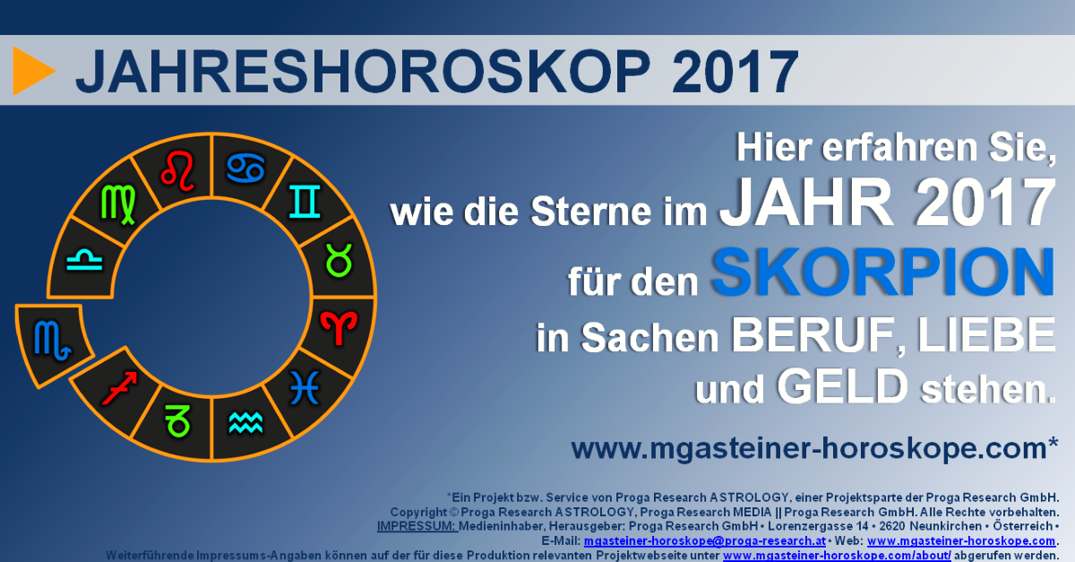 skorpion 23 oktober bis 21 november jahreshoroskop 2017 beruf liebe geld mgasteiner. Black Bedroom Furniture Sets. Home Design Ideas