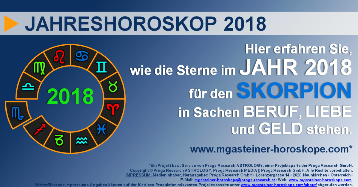 skorpion 23 oktober bis 21 november jahreshoroskop 2018 beruf liebe geld mgasteiner. Black Bedroom Furniture Sets. Home Design Ideas