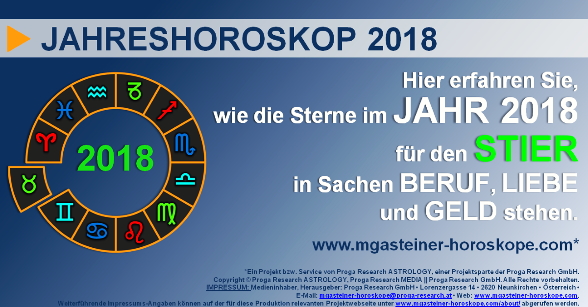 stier 21 april bis 21 mai jahreshoroskop 2018 beruf liebe geld mgasteiner horoskope. Black Bedroom Furniture Sets. Home Design Ideas